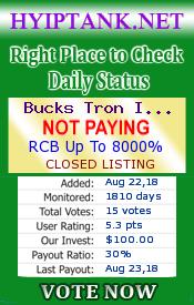 SCAM - Bucks Tron Investment - buckstron com   Kiếm Tiền Trên Mạng